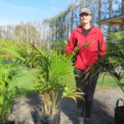 entia (with Sally who is 178cm tall) 25 litre multi planted